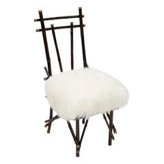 Vintage Chairs 1960 in G.Crespi Style Transformed, Draga&Aurel 21st Century fur