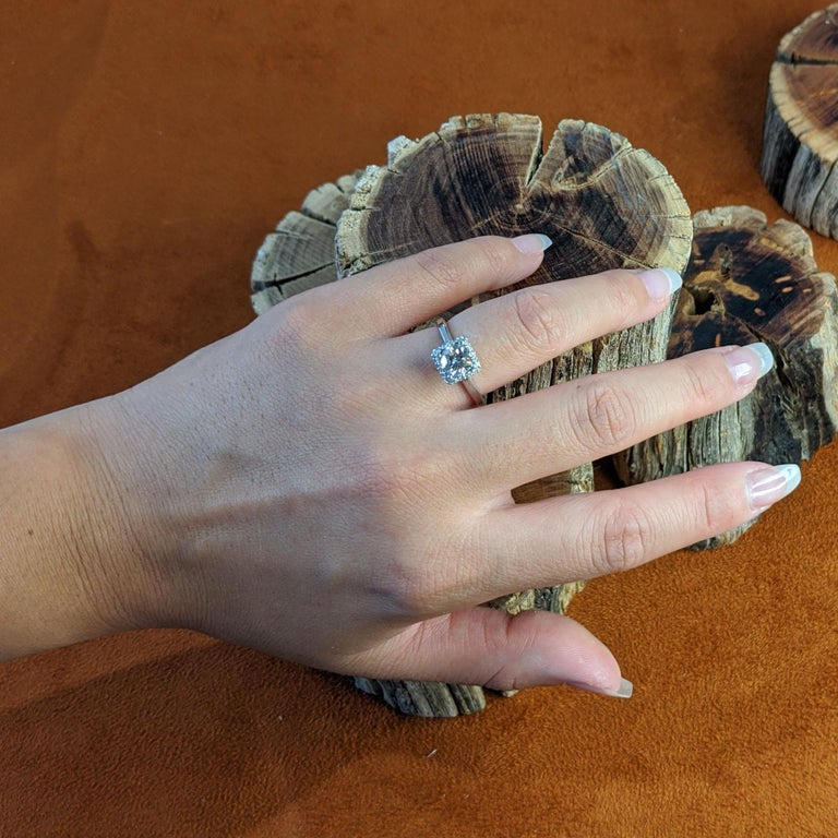 Women's Vintage Champagne Platinum Diamond Ring