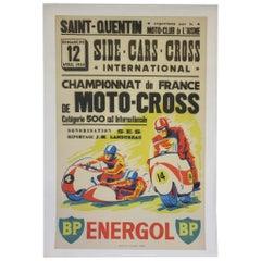 Vintage Champion De France Moto Cross BP Energol Poster