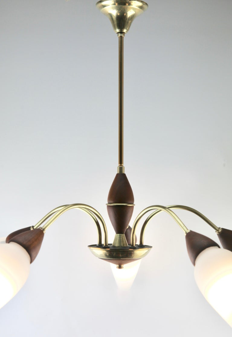 Vintage Chandelier Five Arms by Stilnovo, Italian, 1960s For Sale 5