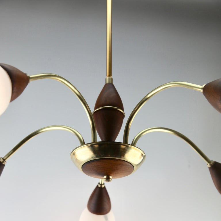 Vintage Chandelier Five Arms by Stilnovo, Italian, 1960s For Sale 2