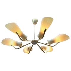 Vintage Chandelier in the Style of Stilnovo Six Arms, Italian, 1960s