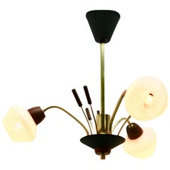 Vintage Chandelier with Three Arms in the Style of Stilnovo, Italian, 1960s