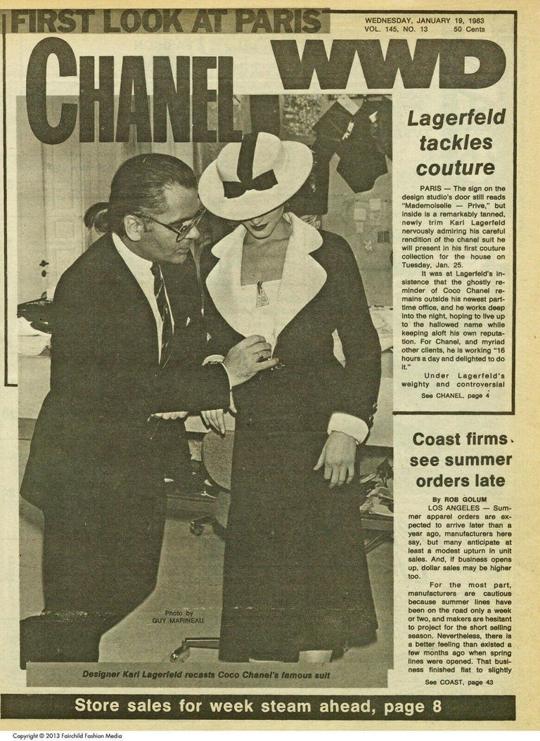 Black Vintage Chanel 1983 K.L.
