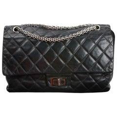 Vintage Chanel 2.55 Black Leather Handbag