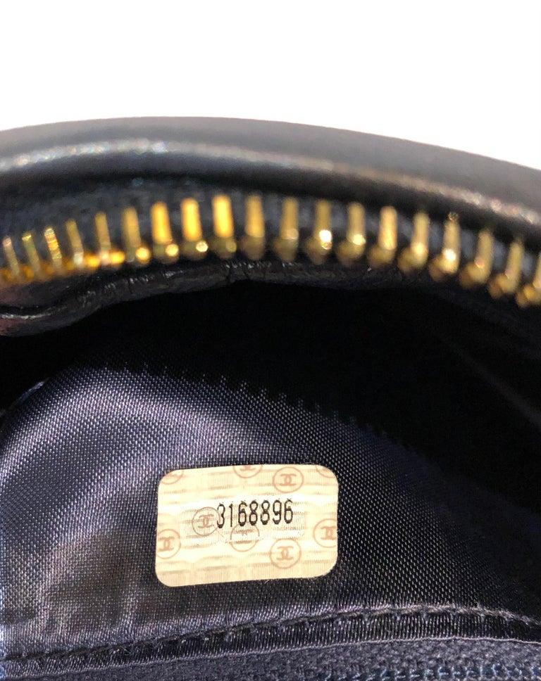 Vintage Chanel 28cm Navy Lambskin Triple CC Camera Shoulder Bag   For Sale 4