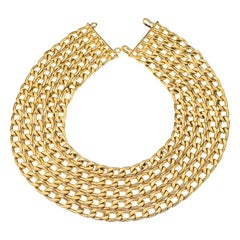 Vintage Chanel 5 Row Chain Necklace