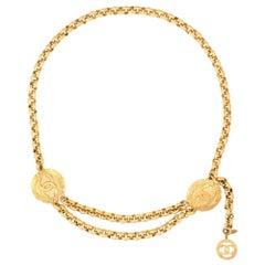 Vintage Chanel Belt 1980s Chain Link Victoire de Castellane Yellow Gold Tone