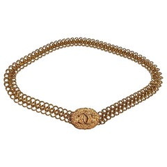 Vintage Chanel Belt Chain with lace design