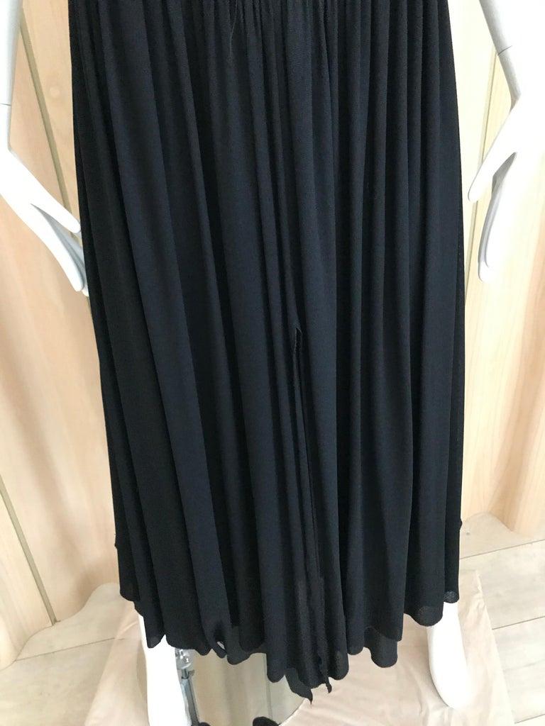 Vintage Chanel Black and White Halter Maxi Dress For Sale 1