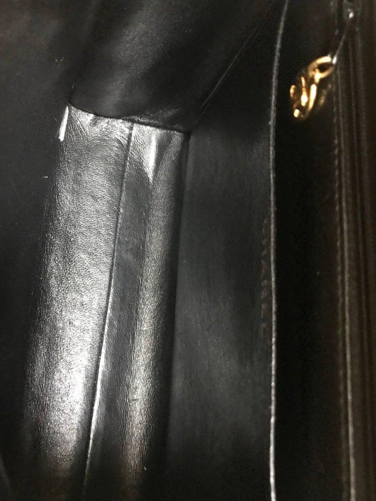Vintage CHANEL black lamb leather 2.55 classic square shape shoulder bag with cc For Sale 12