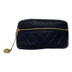Vintage Chanel Blue Leather Belt Bag