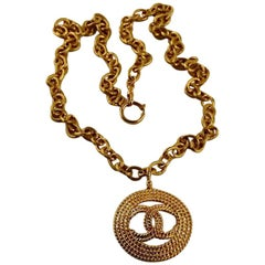 Vintage CHANEL Braided CC Logo Necklace