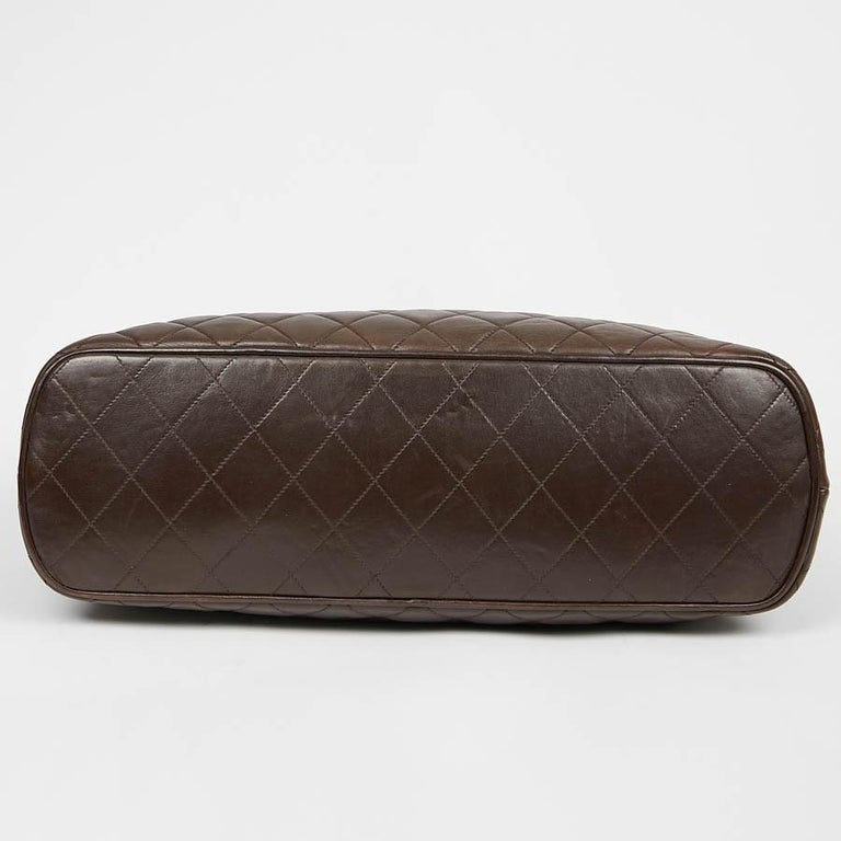Women's Vintage CHANEL Brown Bowling Doctor Bag For Sale