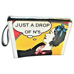 Vintage Chanel Clutch 1990s 'JUST A DROP OF NR. 5'