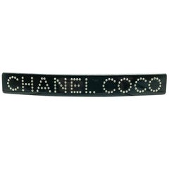 Vintage Chanel COCO CHANEL Floating Pearl Hair Barrette Spring 2008