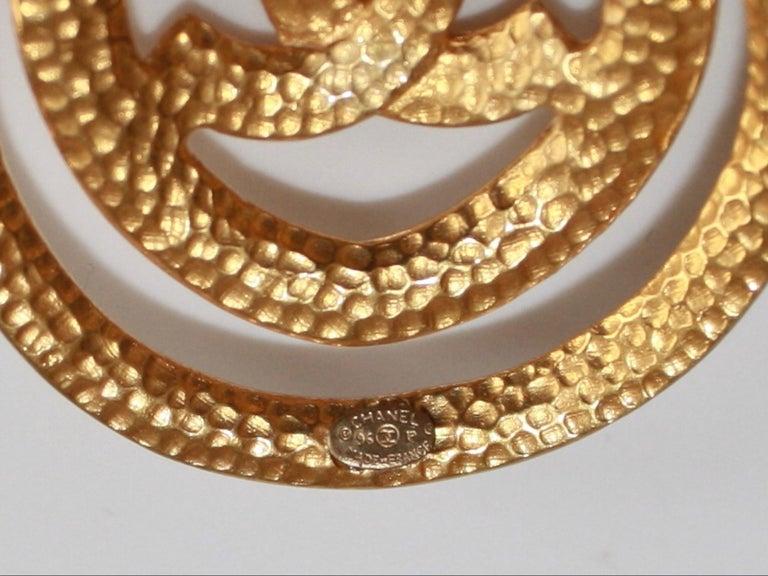 Women's or Men's Vintage Chanel Drop Clip Earrings. For Sale