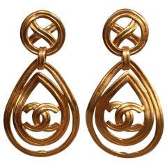 Vintage Chanel Drop Clip Earrings.