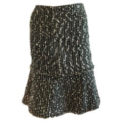 Vintage Chanel Fit and Flare Tweed Skirt