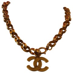 Vintage Chanel Gold Tone Necklace (1984-1990) w/Box
