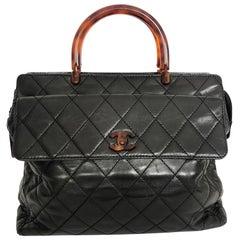 Vintage Chanel Handbag with brown colored hardware - Large