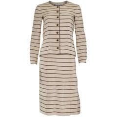 Vintage Chanel Haut Couture Skirt Suit 1974