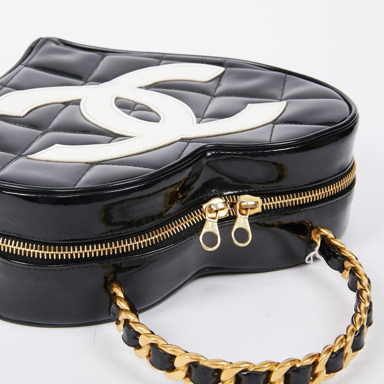 Vintage CHANEL Heart Bag For Sale 7