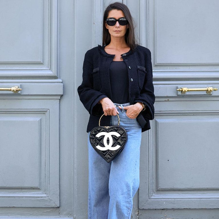 Vintage CHANEL Heart Bag For Sale 9