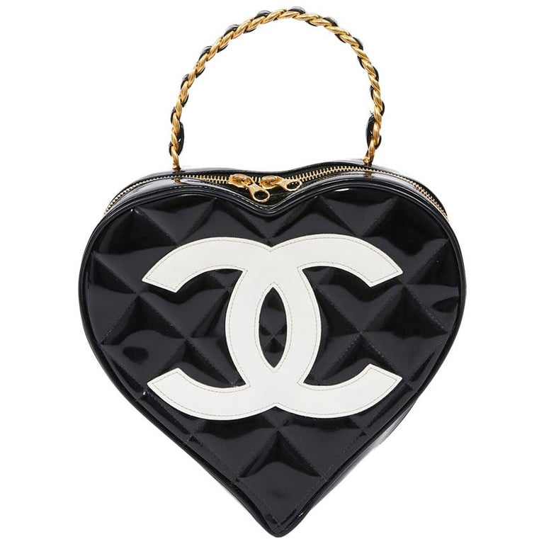 Vintage CHANEL Heart Bag For Sale
