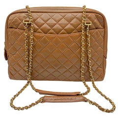 Vintage Chanel Large Quilted Leather 1992 Collection Bag