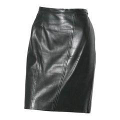 Vintage Chanel Leather Skirt