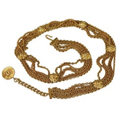 Vintage CHANEL Lion Head Medallion Belt