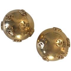 Vintage Chanel Oversize Globe Earrings
