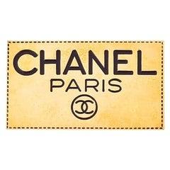 Vintage Chanel Paris Logo Brooch