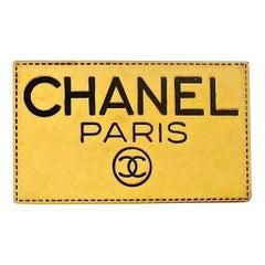 Vintage CHANEL PARIS Logo Name Plate Brooch