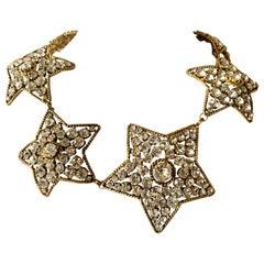 Vintage Chanel Star Diamante Statement Necklace