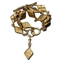Vintage CHANEL Tiered Logo Bracelet