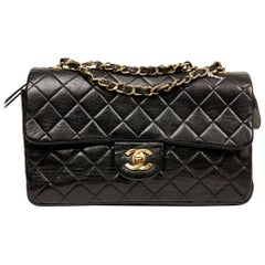 Vintage Chanel Timeless Black Flap Bag