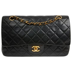 Vintage Chanel Timeless Black Flap Bag