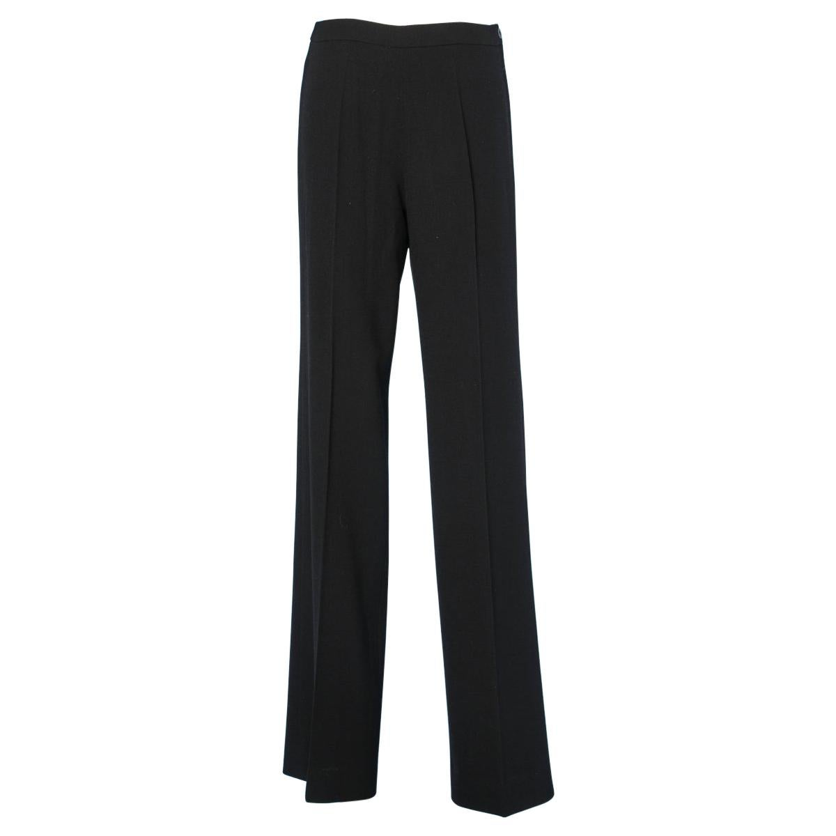 Vintage Chanel trousers in black crepe