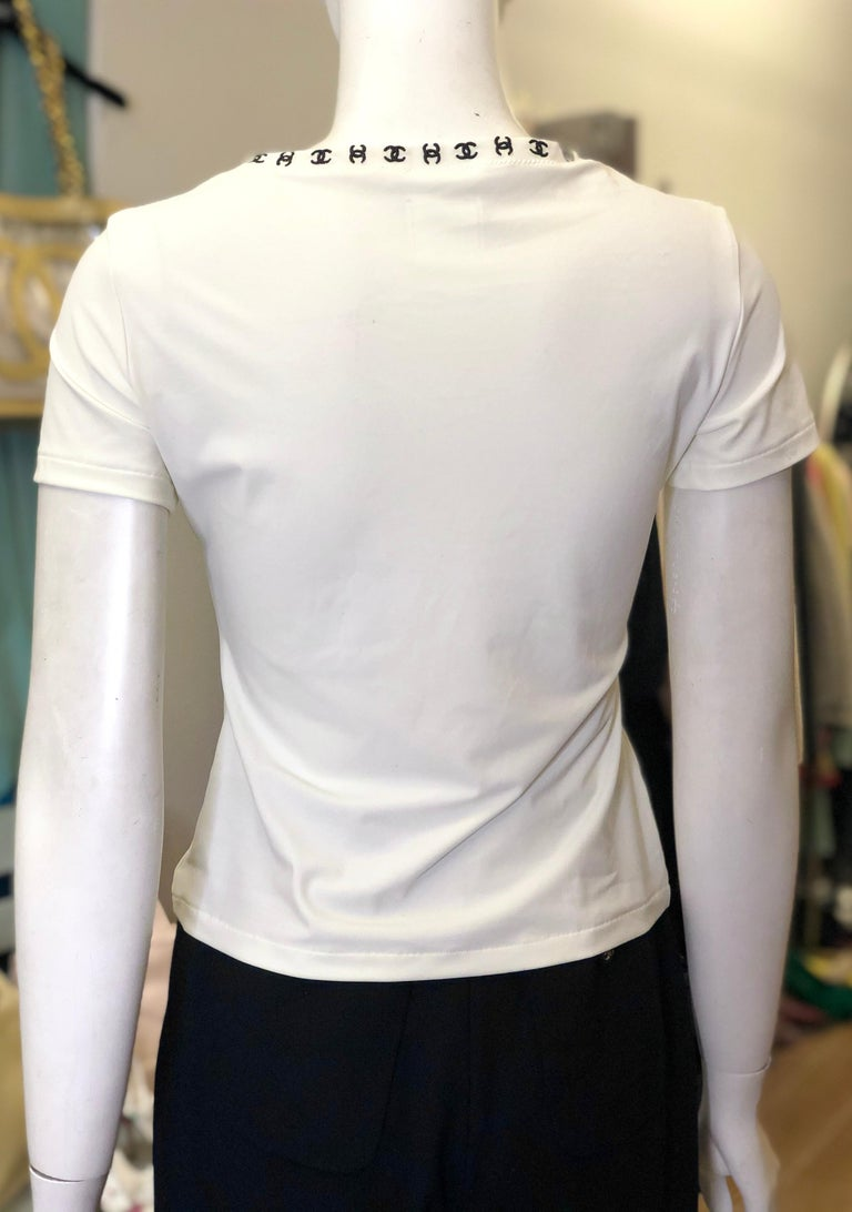 Gray Vintage Chanel White