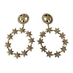 Vintage Chanel XL Star Diamante Statement Earrings