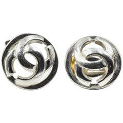 Vintage Channel CC Circle Earrings