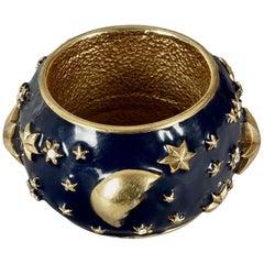 Vintage CHANTAL THOMASS Star Moon Enamel Cuff Bracelet