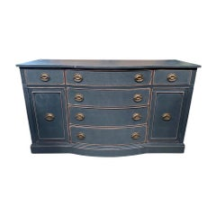 Vintage Charcoal Buffet Credenza
