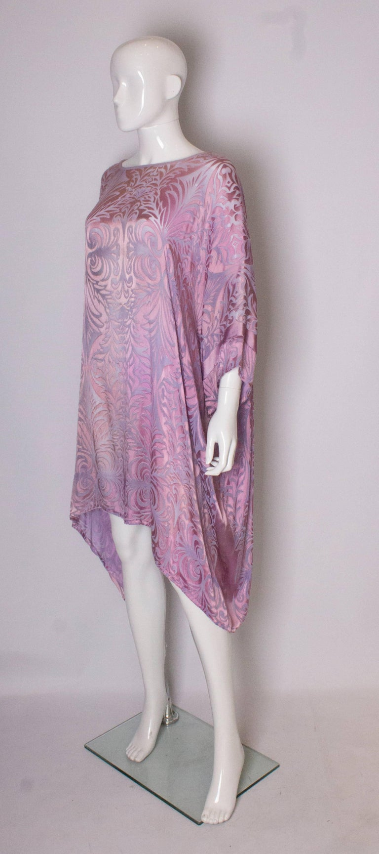 Gray Vintage Charles and Patricia Lester Couture Lilac Devorre Velvet Tunic /Dress For Sale