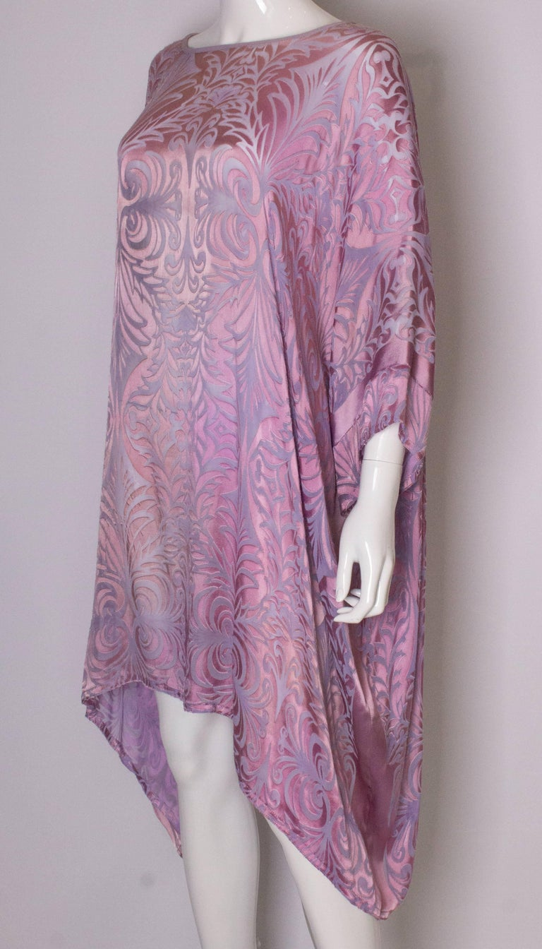 Vintage Charles and Patricia Lester Couture Lilac Devorre Velvet Tunic /Dress In Good Condition For Sale In London, GB