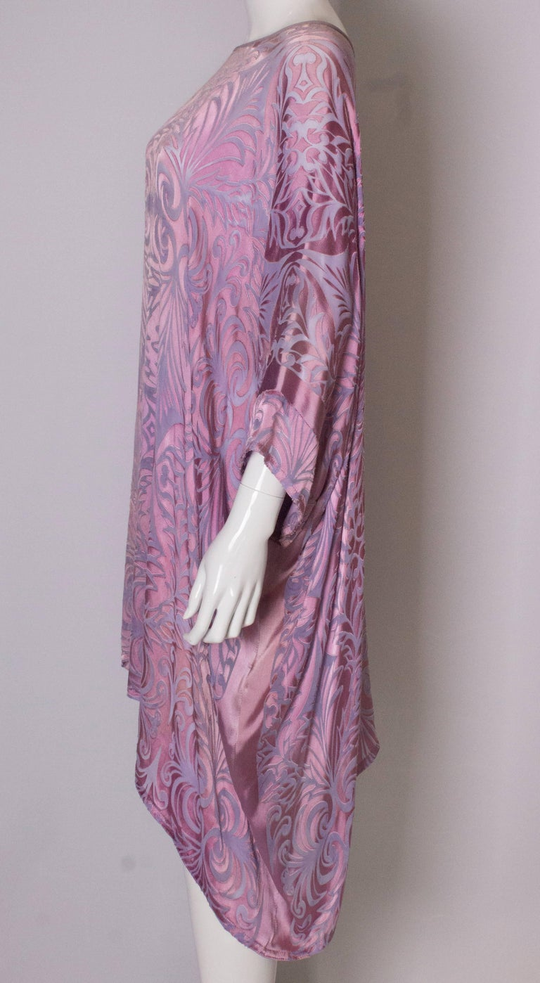 Vintage Charles and Patricia Lester Couture Lilac Devorre Velvet Tunic /Dress For Sale 1