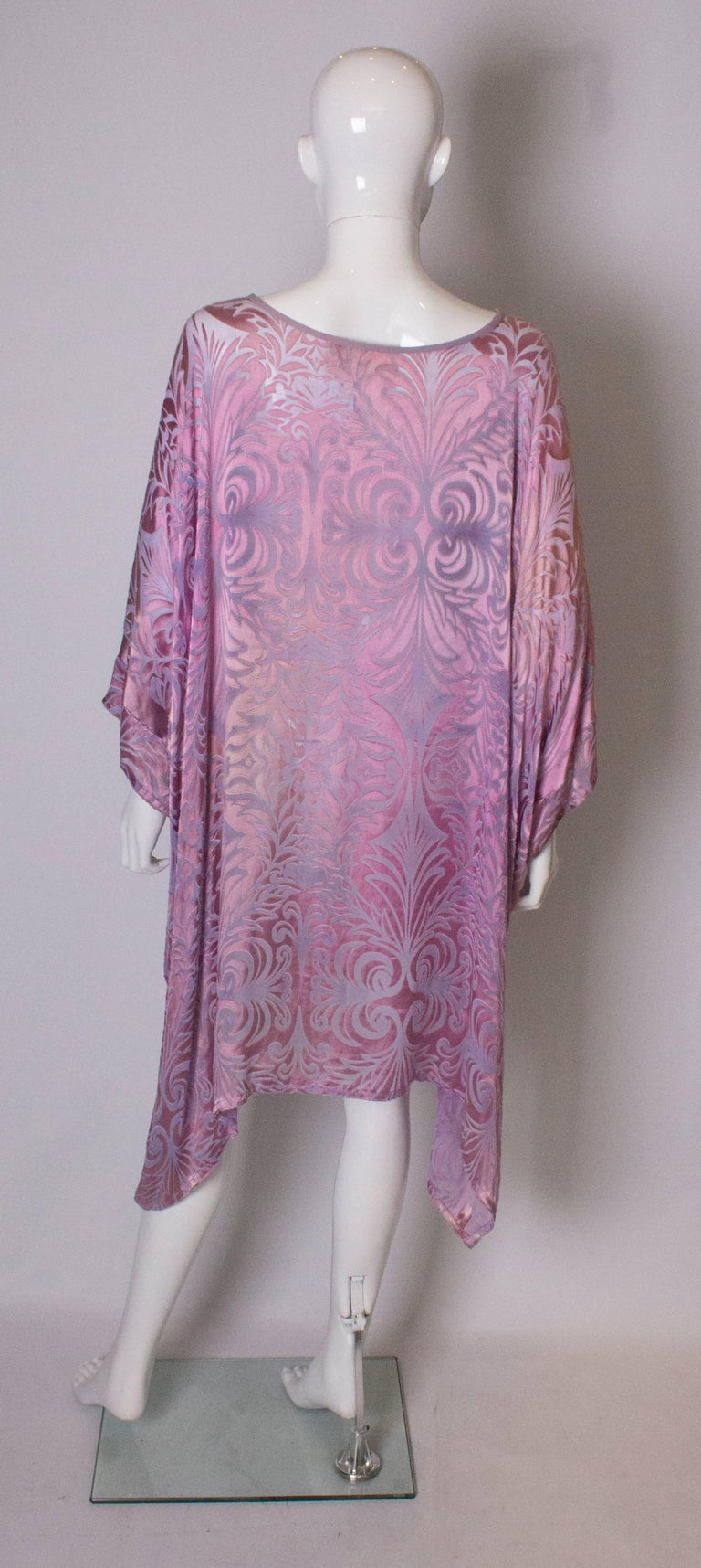 Vintage Charles and Patricia Lester Couture Lilac Devorre Velvet Tunic /Dress For Sale 2