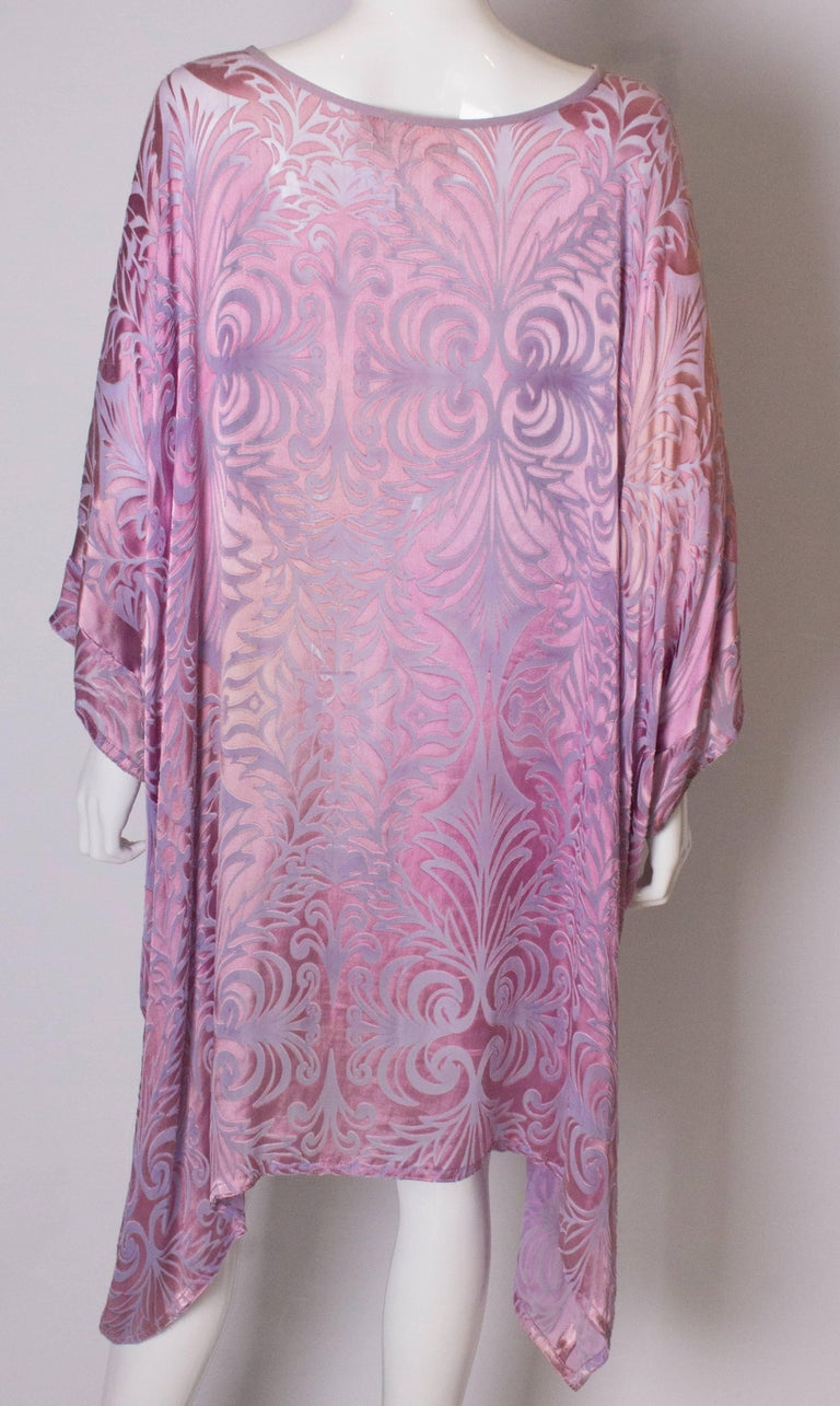 Vintage Charles and Patricia Lester Couture Lilac Devorre Velvet Tunic /Dress For Sale 3